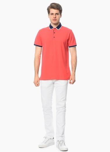 George Hogg Slim Fit Polo Yaka Tişört Kırmızı